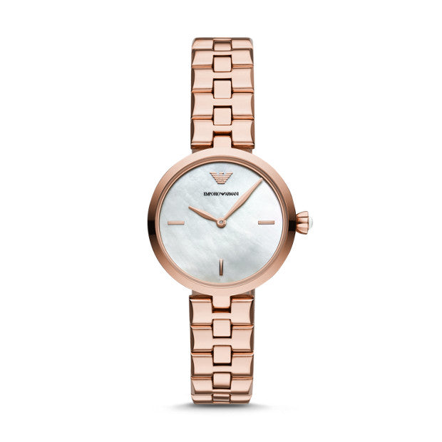 Emporio Armani Rose Gold-Tone Analogue Watch - Duffs Jewellers