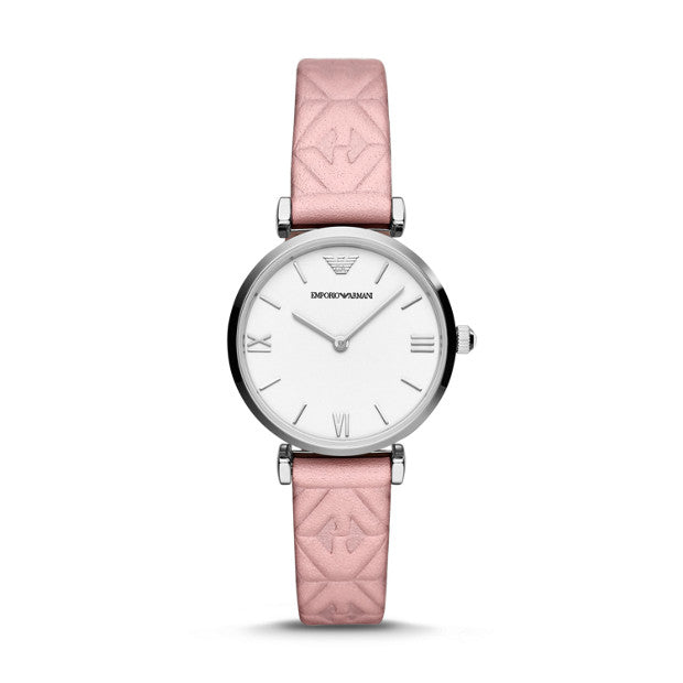Emporio Armani Pink Analogue Watch - Duffs Jewellers
