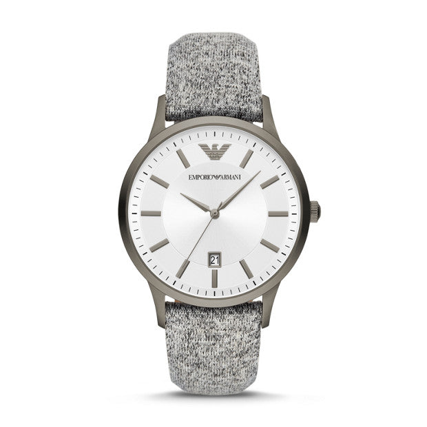 Emporio Armani Grey Analogue Watch - Duffs Jewellers