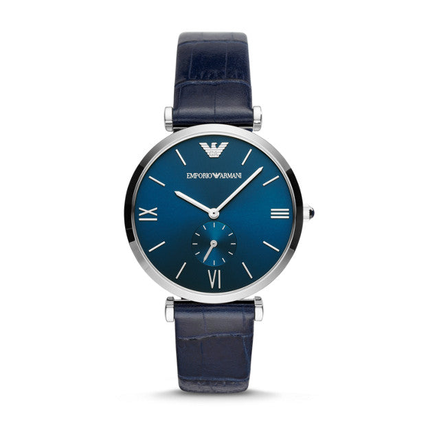 Emporio Armani Blue Analogue Watch - Duffs Jewellers