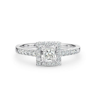 Princess Cut Diamond Halo Ring