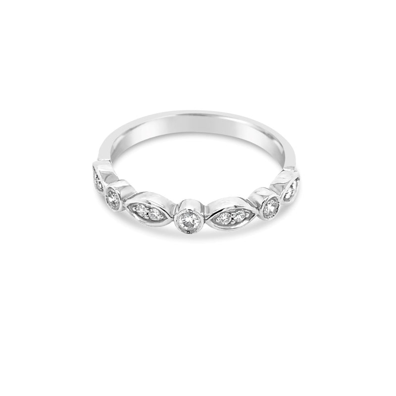 White gold diamond alternating dress