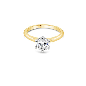 1.00ct G SI2 Yellow Gold Solitaire Diamond ring