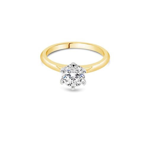 1.00ct F SI2 Yellow Gold Solitaire Diamond ring - Duffs Jewellers