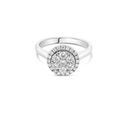 Round 0.50ct White gold cluster - Duffs Jewellers