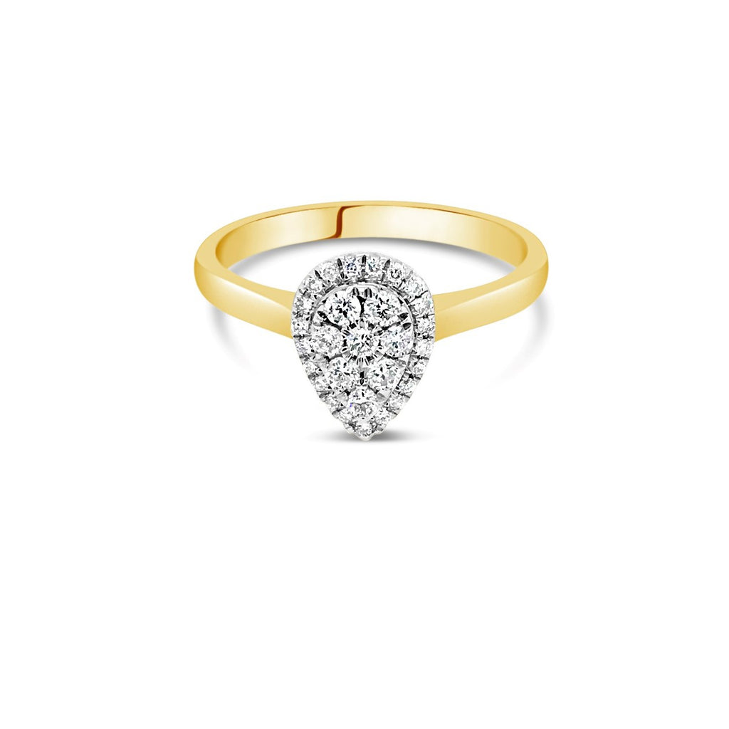 Pear 0.25ct White gold cluster - Duffs Jewellers