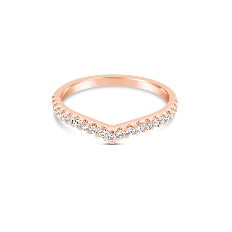 Rose gold diamond wishbone ring - Duffs Jewellers