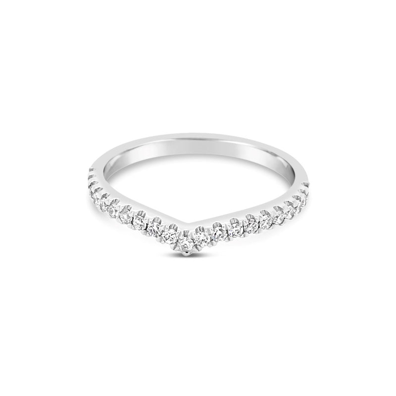 White gold diamond wishbone ring - Duffs Jewellers