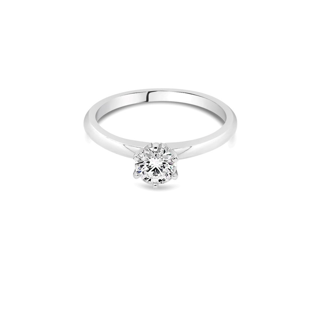 0.50ct E SI2  White Gold Solitaire Diamond ring