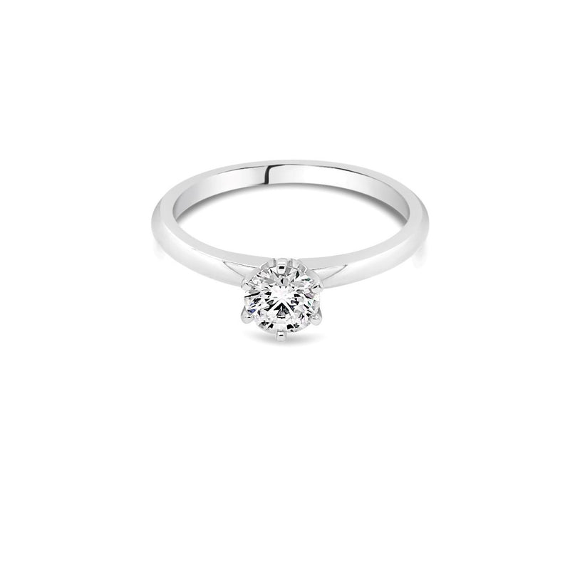 0.50ct E SI2  White Gold Solitaire Diamond ring - Duffs Jewellers