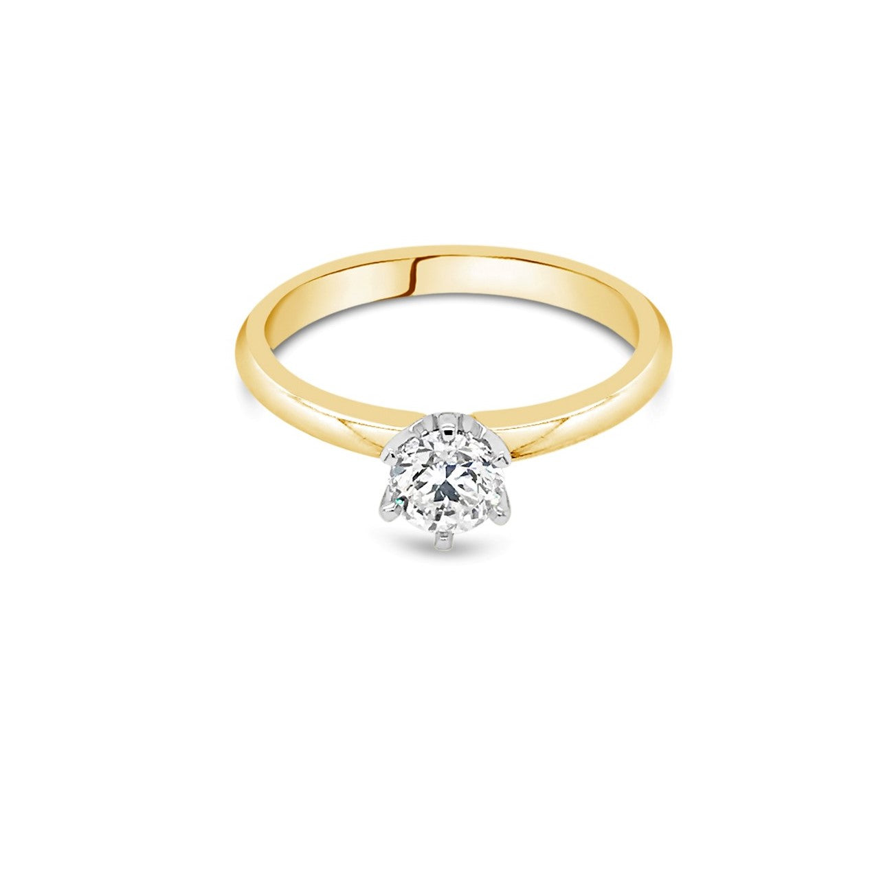 0.50ct J P1 Yellow Gold Solitaire Diamond ring