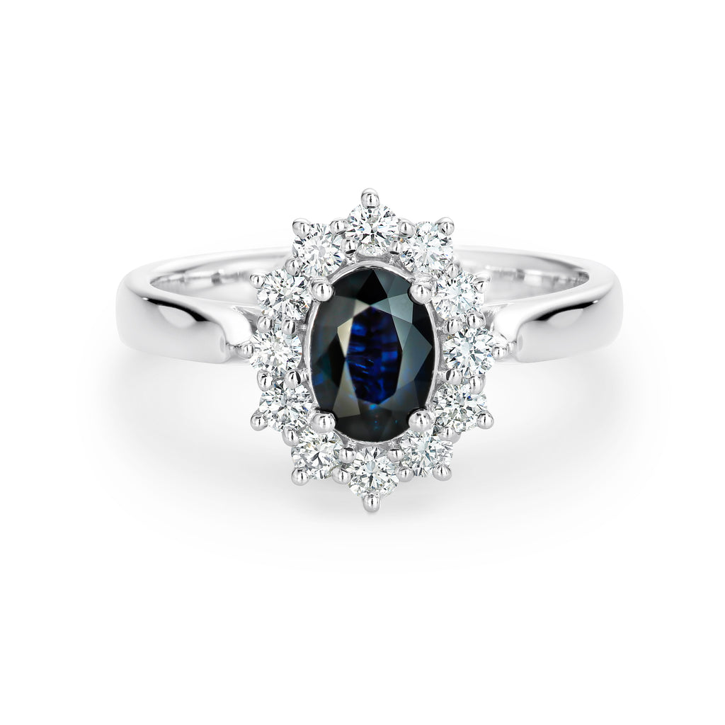 White gold Sapphire and diamond ring - Duffs Jewellers