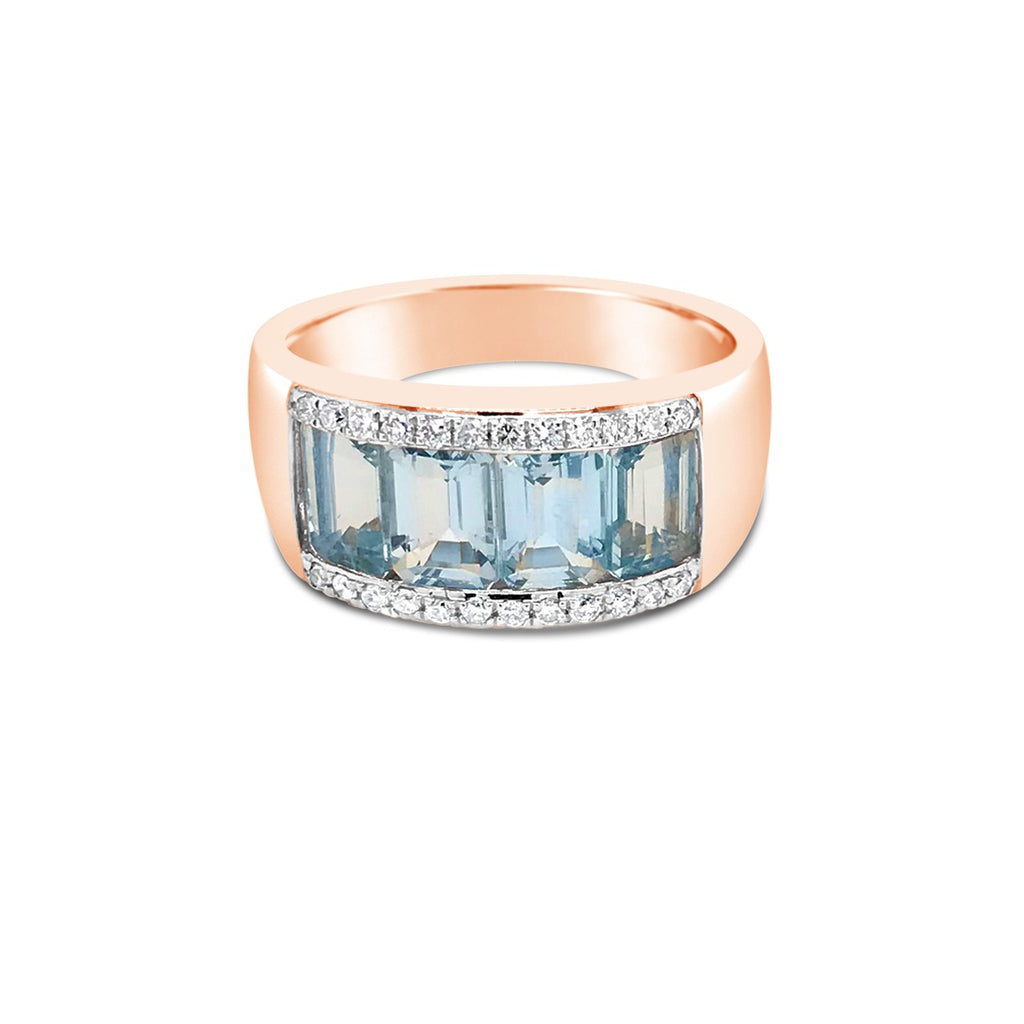 Rose aqua dress ring