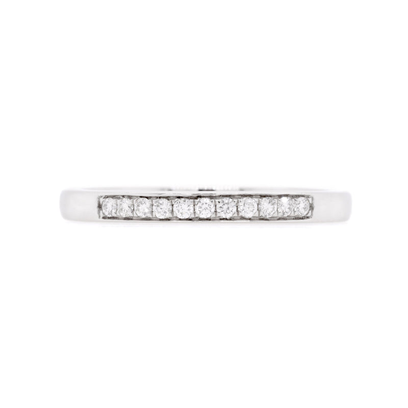 18ct White Gold Diamond Wedding Ring TDW = 0.10ct - Duffs Jewellers