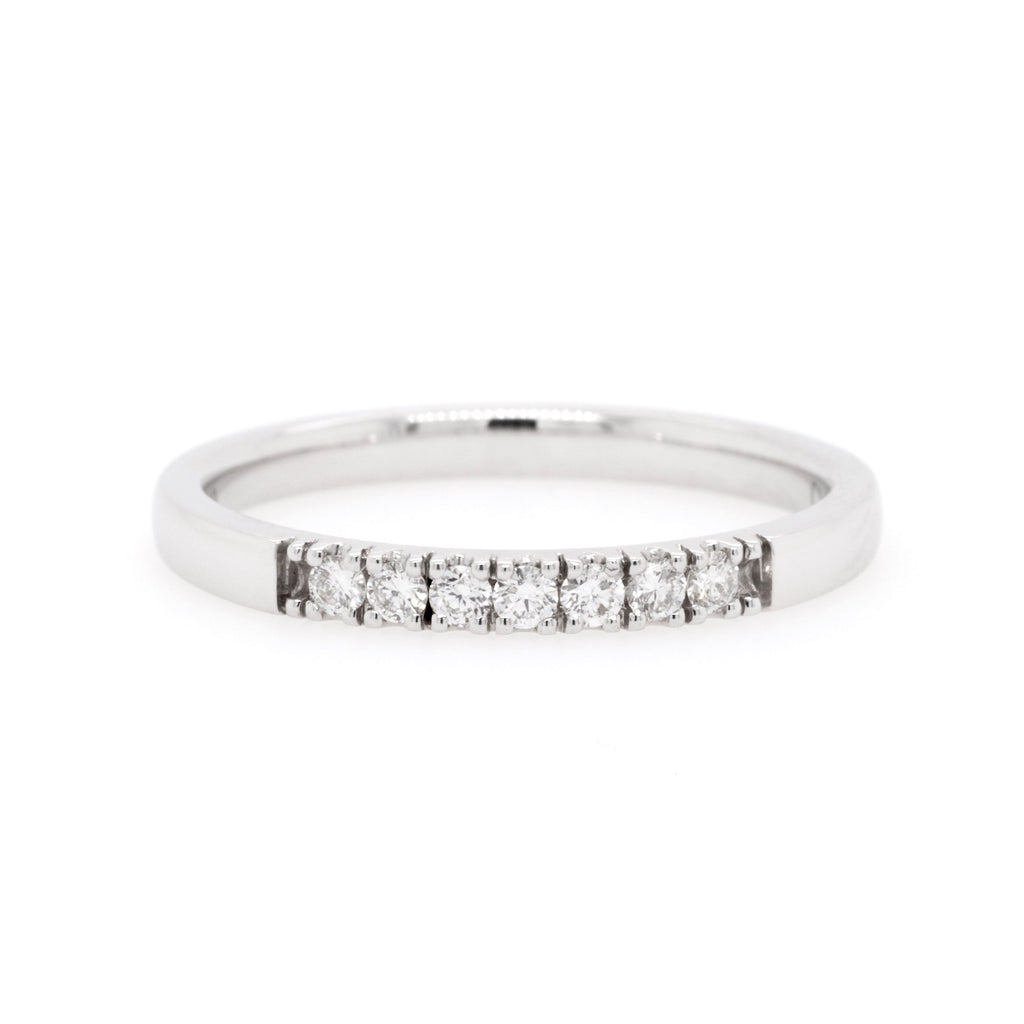 18ct White Gold Diamond Wedding Ring TDW = 0.14ct - Duffs Jewellers