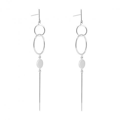 Najo Chant Sterling Silver Drop Studs - Duffs Jewellers