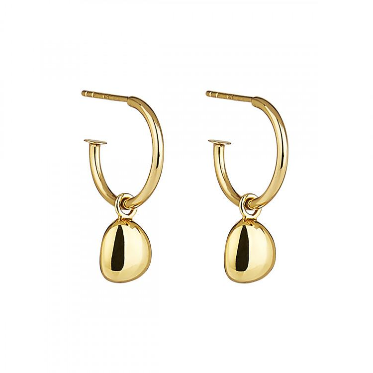Najo Piedra Gold Small Hoop Earring - Duffs Jewellers
