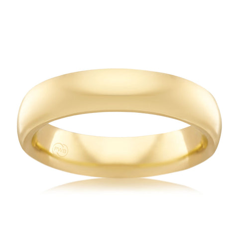 9ct Yellow Gold 5mm Wedding Ring