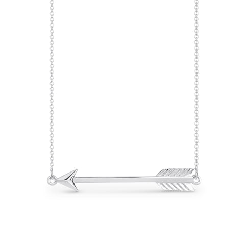9ct White Gold Arrow pendant
