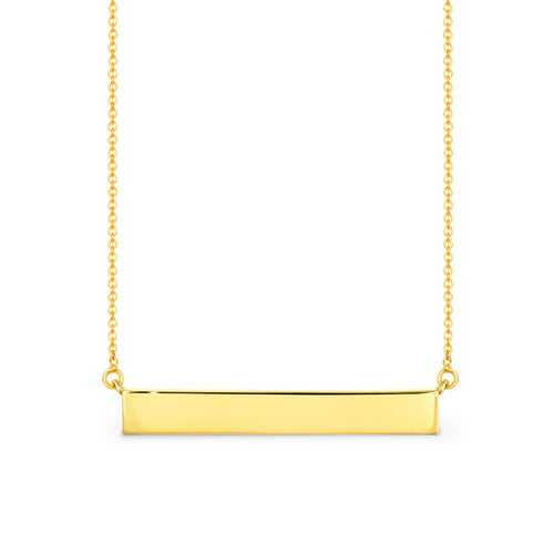 9ct Yellow gold bar pendant - Duffs Jewellers