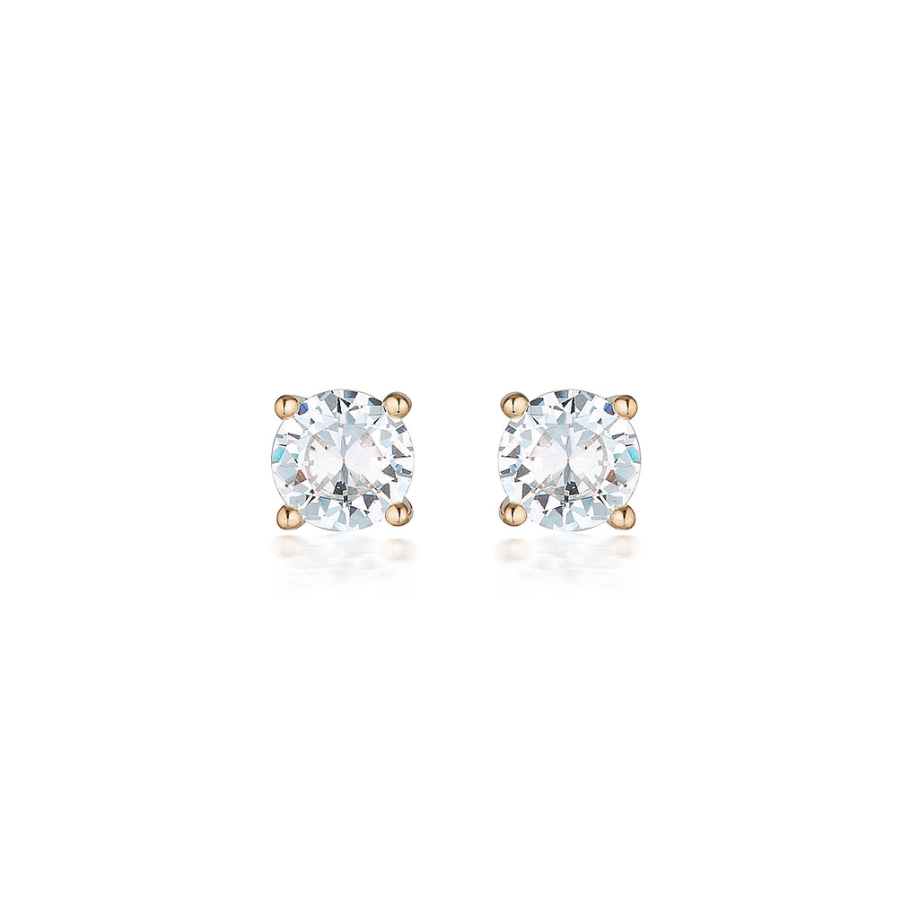 9ct Rose Gold 5mm Studs - Duffs Jewellers