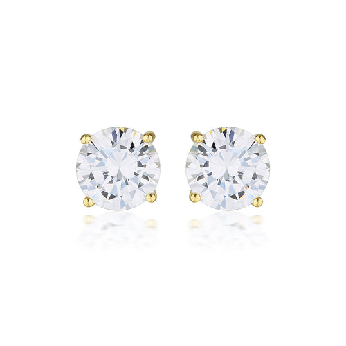 Georgini 9ct Yellow Gold 7.5mm Studs - Duffs Jewellers
