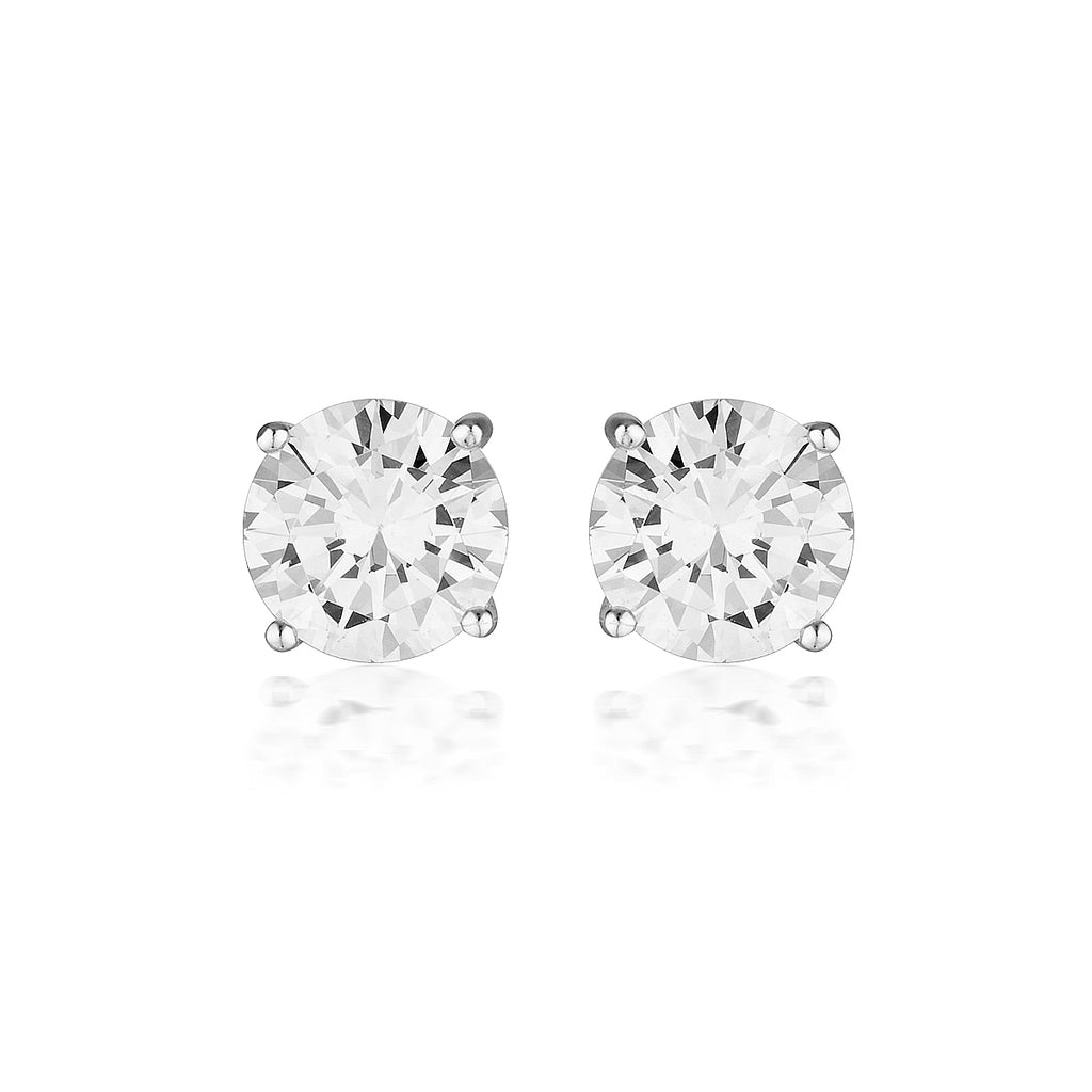 Georgini 9ct White Gold 7.5mm Studs - Duffs Jewellers