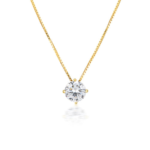 Georgini 9ct Yellow Gold 6.5mm Round Pendant - Duffs Jewellers