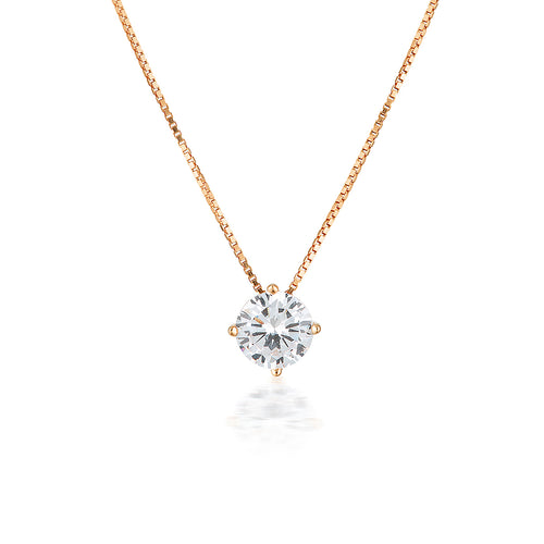 Georgini 9ct Rose Gold 6.5mm Round Pendant - Duffs Jewellers