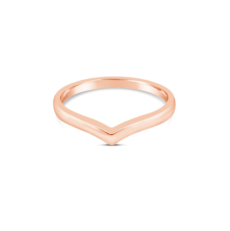 Rose gold wishbone ring - Duffs Jewellers