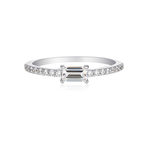 Georgini Sterling Silver Baguette Ring - Duffs Jewellers