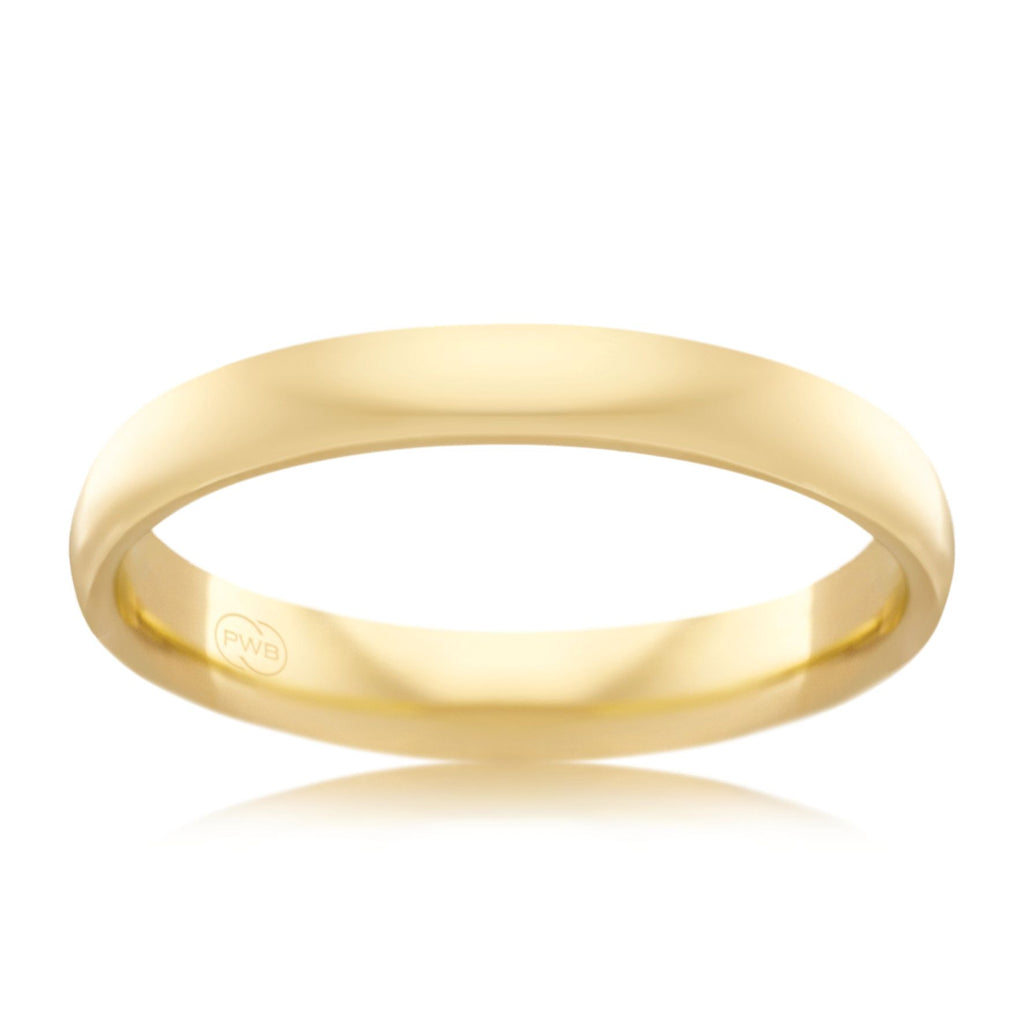 18ct Yellow Gold 3mm Wedding Ring - Duffs Jewellers