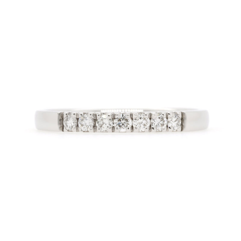 18ct White Gold Diamond Wedding Ring TDW = 0.25ct - Duffs Jewellers