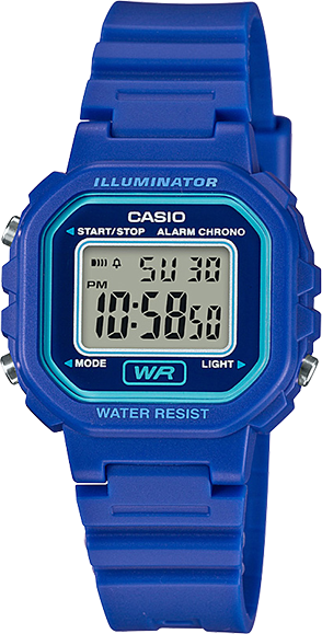 Casio Youth Blue Resin Digital Watch LA20WH-2A
