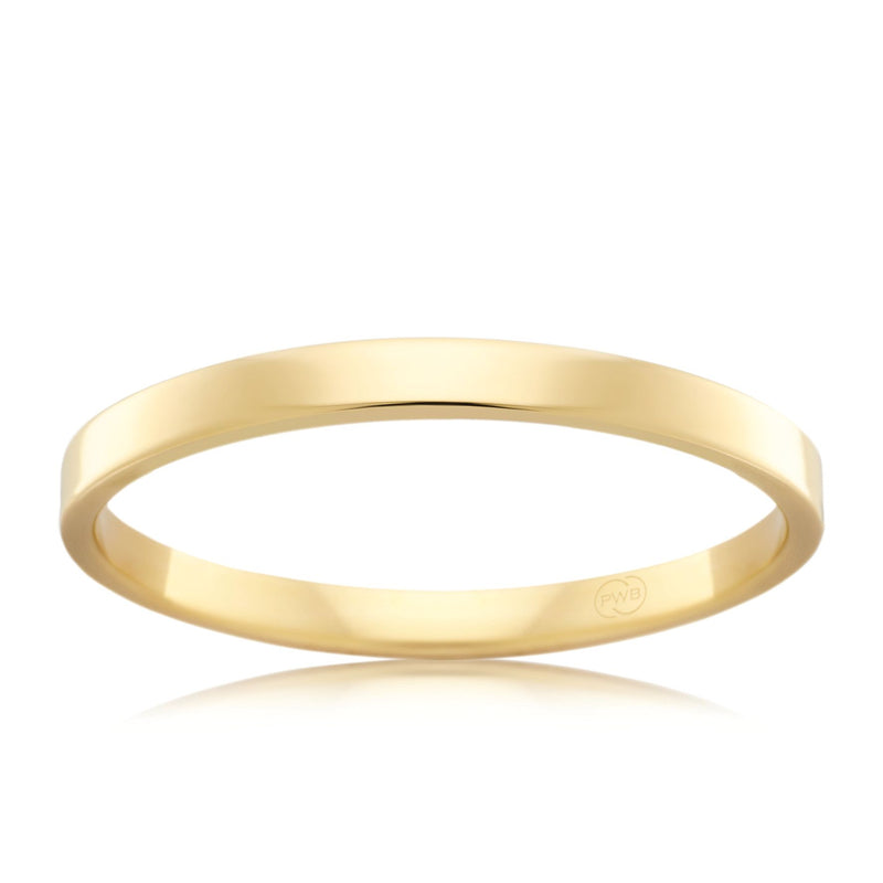 18ct Yellow Gold 2mm Wedding Ring - Duffs Jewellers