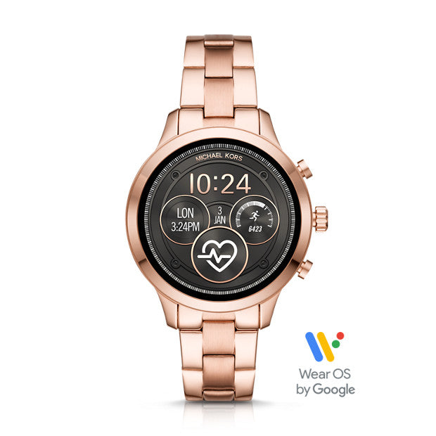 Michael Kors Runway Rose Gold-Tone Smartwatch - Duffs Jewellers