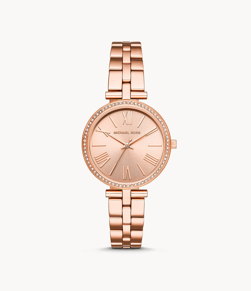 Michael Kors Maci Rose Gold-Tone Analogue Watch