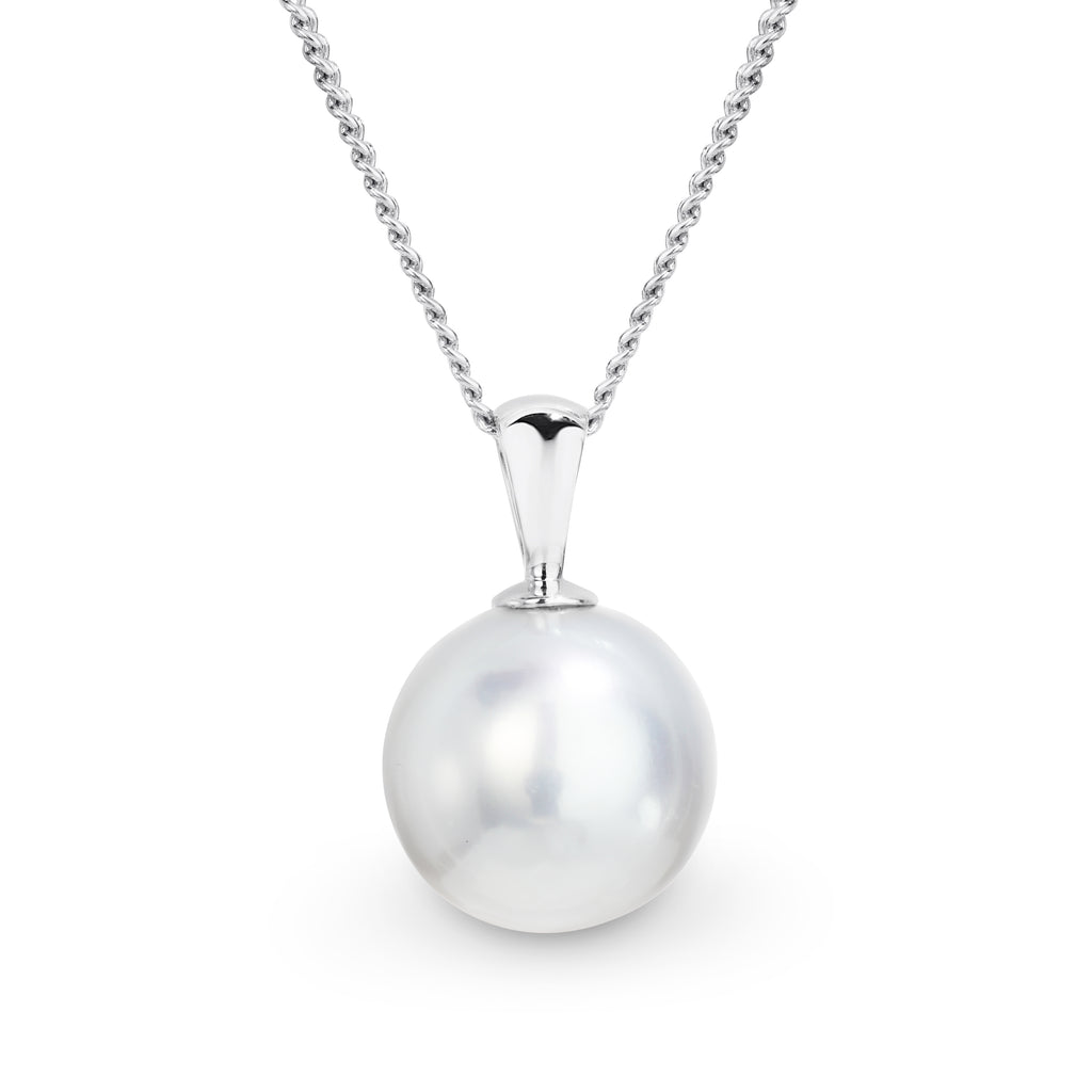 White gold South Seas Pearl pendant - Duffs Jewellers