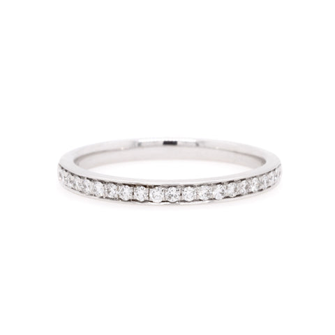 18ct White Gold Diamond Wedding Ring TDW = 0.22ct