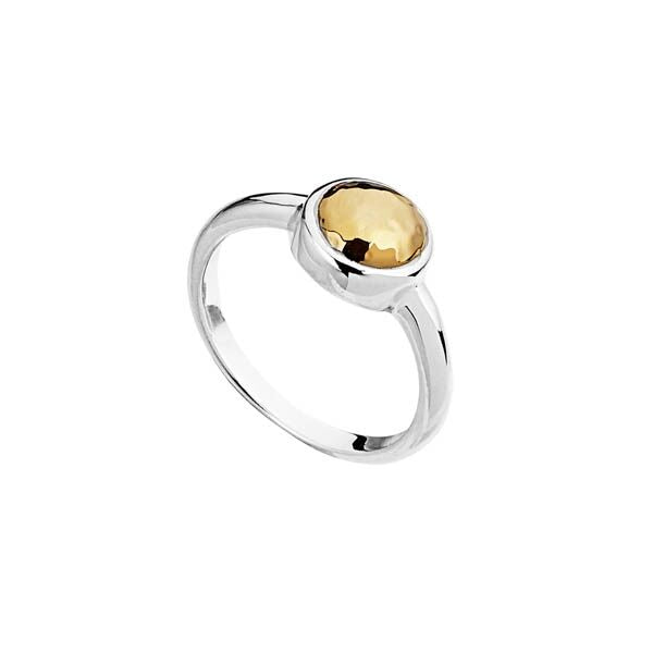 Najo Baby Golden Glow Ring Beaten - Duffs Jewellers