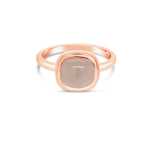 Rose gold rose quartz ring