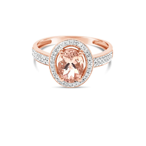 Rose gold morganite ring - Duffs Jewellers
