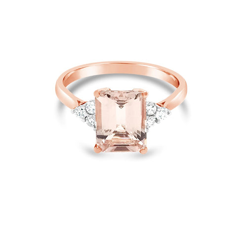 Antique Style Morganite ring - Duffs Jewellers