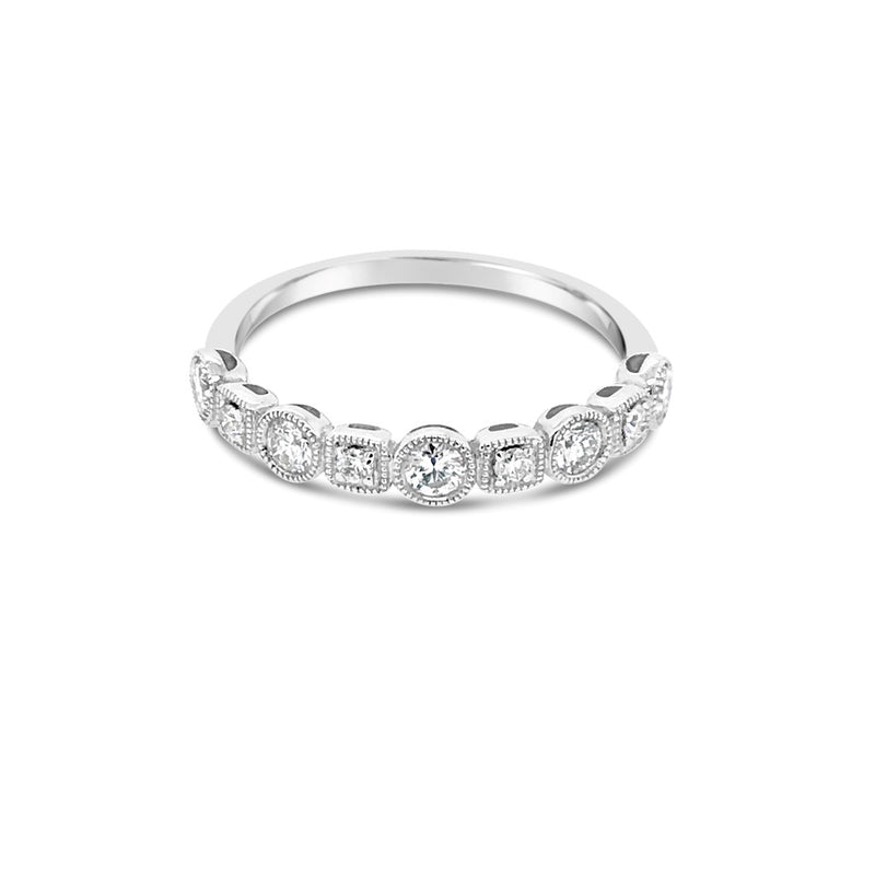 White gold alternating diamond ring - Duffs Jewellers