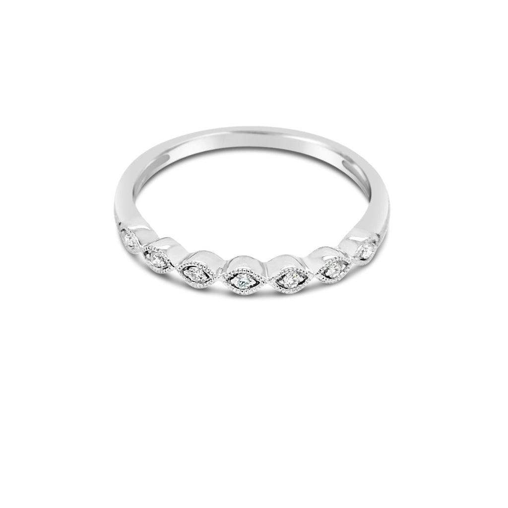 White gold marquise shape ring