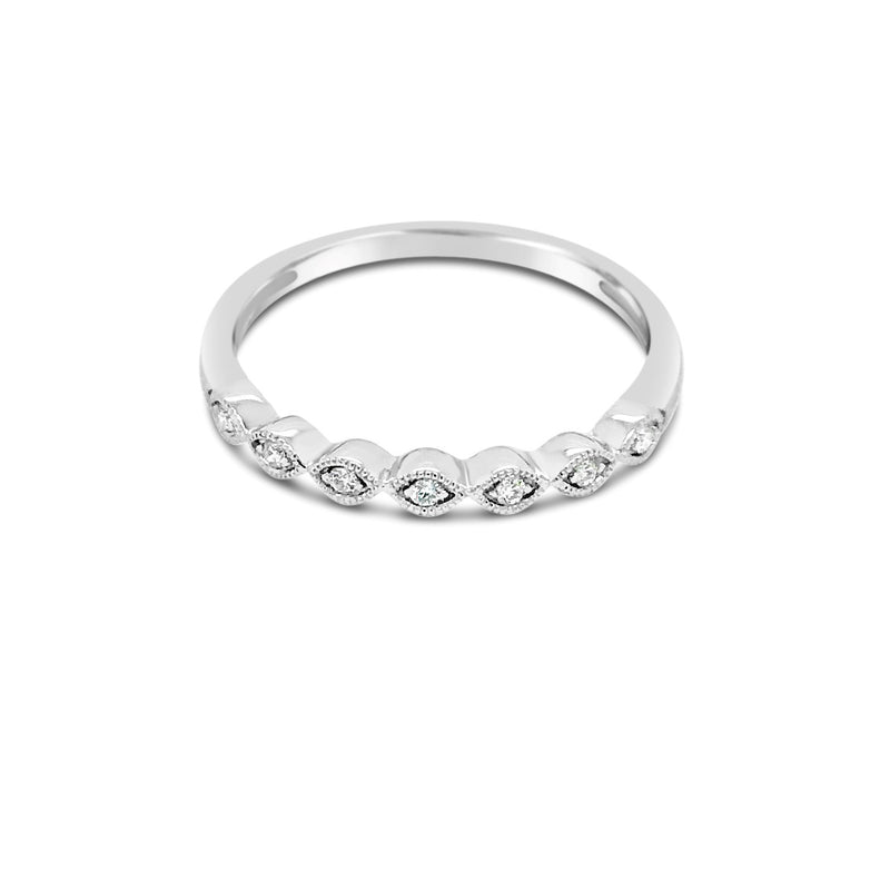 White gold marquise shape ring - Duffs Jewellers