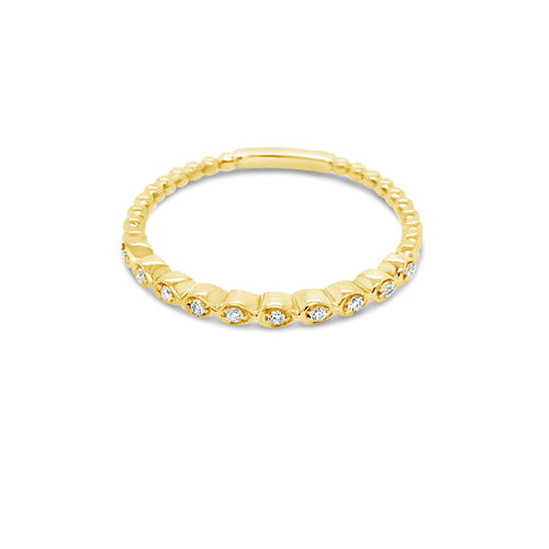 Yellow gold diamond band - Duffs Jewellers