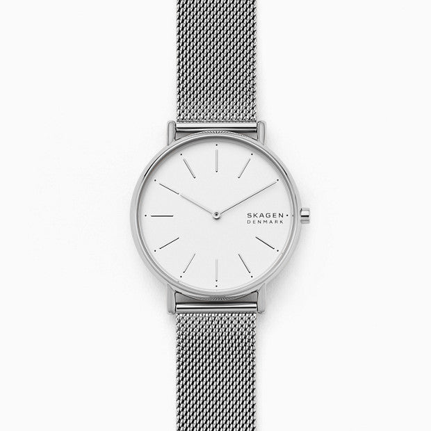 Skagen Signatur Silver-Tone Analogue Watch - Duffs Jewellers
