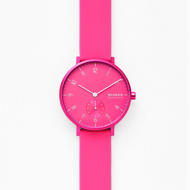 Skagen Aaren Pink Analogue Watch - Duffs Jewellers