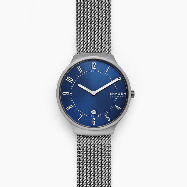 Skagen Grenen Silver-Tone Analogue Watch - Duffs Jewellers